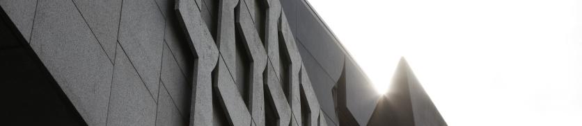 Detail of the Canongate building housing BIT and SPICe at the Scottish Parliament Complex Edinburgh. 19 April 2017 . Pic - Andrew Cowan/Scottish Parliament